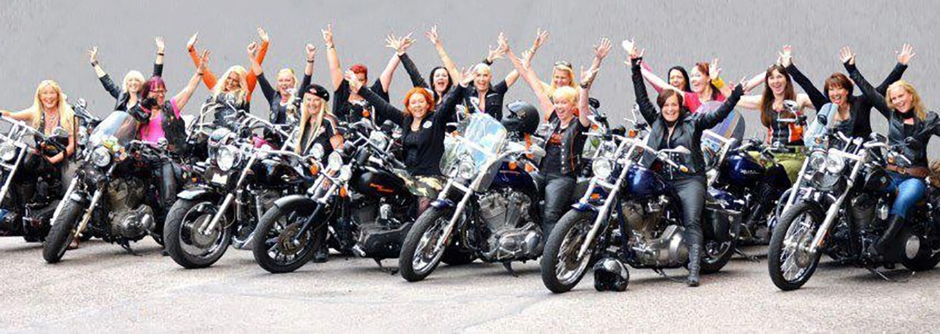 Photo of several women riders
